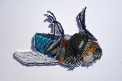 Detail serie, 2018, 18 x 14 cm., draad en vilt